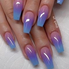 56 Trendy Ombre Nail Art Designs – Long Nail Designs - Water - New Ideas Nail Art Designs, Cute Acrylic Nail Designs, Long Nail Designs, Ombre Nail Designs, Beautiful Nail Designs, Coffin Nail Designs, Unique Nail Designs, Coffin Nails Designs Summer, Fancy Nails Designs