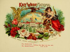 Key West National cigar label, lithography by Schwencke