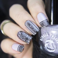 This stamping plate is breathtaking with Hand of Hamsa, paisley and floral designs to stamp your next manicure with. Nail Design Kit, Nail Designs, Nail Stamping Plates, Manicure, Nails, Hamsa Hand, Floral Designs, Rings For Men, Spirit