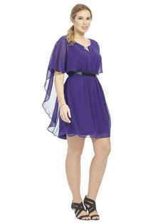 67f89a4bb8e Capelet Dress In Dahlia. Capelet DressFaux Leather BeltsClub Party DressesCity  ChicDahliaPlus Size DressesBeautiful OutfitsBeeChiffon