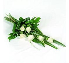 beautiful symbol of life, a floral tribute is a wonderful and much appreciated way to express your feelings for a friend or loved one. This elegant spray is suitable for delivery to the home or funeral service. Funeral Bouquet, Funeral Flowers, Wedding Flowers, Wedding Bouquets, Arrangements Funéraires, Funeral Flower Arrangements, Funeral Sprays, Casket Sprays, Beautiful Symbols