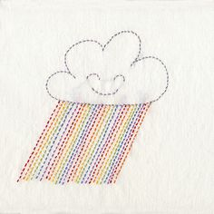 It's Raining Rainbows - Embroidery Pattern PDF. $5.00, via Etsy.