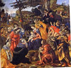 色彩豊かに描かれることが多い「東方三博士の礼拝」