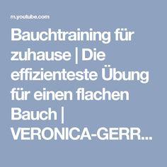 Bauchtraining für zuhause | Die effizienteste Übung für einen flachen Bauch | VERONICA-GERRITZEN.DE - YouTube