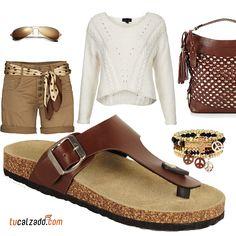 ¡Comodidad y moda! www.tucalzado.com #Moda #Estilo #Sandalias #Zapatos #Combinación