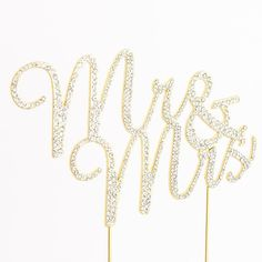 """Mr Mrs Rhinestone Crystal Cake Topper for Wedding, Engagement, Anniversary &Bridal Shower Decorations (Sliver /Gold) - Features: - Luxurious """"Mr &Mrs"""" Cake Topper Decoration. - Simple and Elegant. - P"""