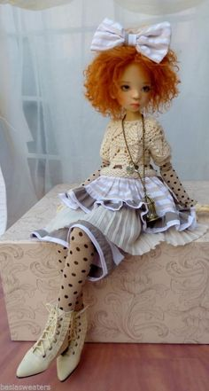 VINTAGE STYLE SUMMER OUTFIT FOR SD NELLY OR MSD KAYE WIGGS  DOLLSTOWN BY BARBARA #ClothingAccessories