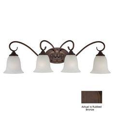 Millennium Lighting 4-Light Rubbed Bronze Bathroom Vanity Light