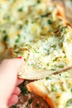 Spinach and Artichoke Dip French Bread