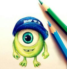 Mike Wasouski cute monsters university movie c: