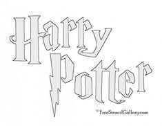 Harry Potter Title Stencil