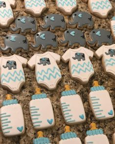 For a baby shower! #decoratedcookies #elephant #babyshower #onesie #yum #corpuschristi #beebees361 #cookies