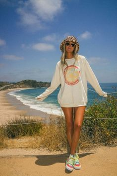 Salty Sweatshirt ~ Cold Cans & Sun Tans Graphic – comfy travel outfit summer Comfy Travel Outfit, Travel Outfit Summer, Summer Outfits, Travel Outfits, Trendy Outfits, Girl Outfits, Cute Outfits, Fashion Outfits, Looks Hip Hop