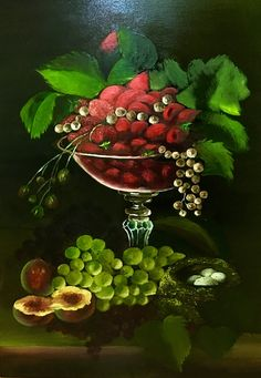 Szeptemberi olajfestő tanfolyamunkon készült csendélet. Fruit, Painting, Food, Meal, The Fruit, Painting Art, Essen, Paintings, Hoods