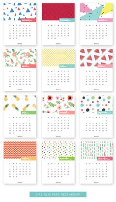 FREE printable Calendar 2017  Follow me @prodanbenoli for more pins - I'll follow back!