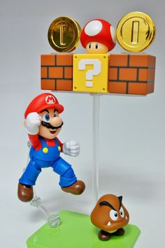 S.H.Figuarts 슈퍼마리오 Birthday Centerpieces, Super Mario, Nintendo Switch, Statues, Cool Stuff, Games, Amazing, Illustration, Kids