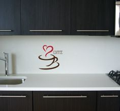 coffee and heart decal - Google Search