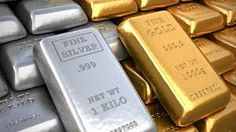 Silver ingot and gold bullion. Silver ingot and gold bulli , Metal Prices, Silver Prices, Silver Market, Silver Shop, Gold Futures, Silver Ingot, Commodity Market, Gold Rate, Personal Finance
