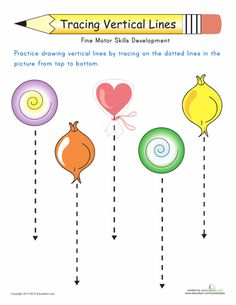 Preschool Worksheets 3 Year Olds in addition Vertical Lines Worksheets ...