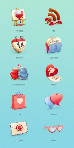 Free icons by Cuberto on Smashing Magazine: smashingmagazine.com/2012/02/02/freebie-valentines-day-icon-set