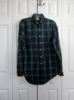 Vintage Hipster LL Bean Plaid Flannel Shirt by MarjoriesMemories, $12.00#HipsterShirt