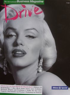 Drive - The International Business Magazine - 2014, magazine from Germany. Front cover photo of Marilyn Monroe by Frank Powolny, 1953.