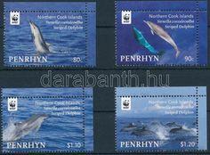 Penrhyn stamp WWF: Dolphins corner set MNH 2010 Mi 615-618 WS130240