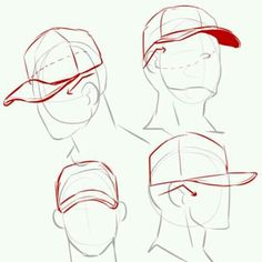 baseball cap reference hat how to draw the batter male