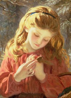 A New Friend by Sophie Anderson (French, 1823–1903). ~via c0ssette