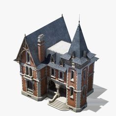 old house 2 Architecture Blueprints, Minecraft Architecture, Victorian Architecture, Historical Architecture, Architecture Details, House 3d Model, Planet Coaster, Tower House, House 2