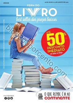 Antevisão Folheto CONTINENTE Feira do livro promoções de 26 julho a 14 agosto - http://parapoupar.com/antevisao-folheto-continente-feira-do-livro-promocoes-de-26-julho-a-14-agosto/