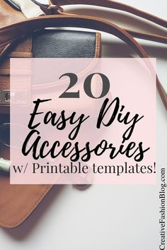 20 handmade accessories you can make yourself! make your own jewelry, bags and purses with these step by step tutorials and printable templates. Make Your Own Clothes, Make Your Own Jewelry, Diy Fashion Accessories, Handmade Accessories, Easy Sewing Patterns, Sewing Tutorials, Diy Leather Feather Earrings, Diy Messenger Bag, Leather Wallet Pattern