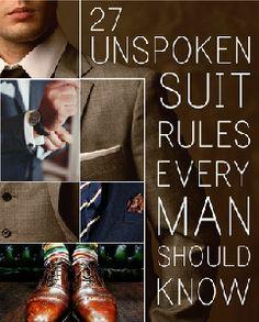 27 Unspoken Suit Rul…
