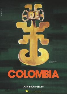 Air France - Colombia - 1960's -