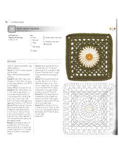 ru / Фото - 75 Floral Blocks to Crochet - nezabud-ka Crochet Squares, Crochet Granny, Crochet Motif, Crochet Lace, Crochet Stitches, Free Crochet, Blanket Crochet, Crochet Flower Patterns, Crochet Flowers