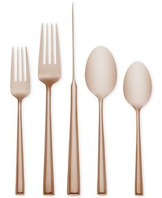 kate spade new york Malmo Rose Gold 5-Piece Place Setting - Flatware & Silverware - Dining & Entertaining - Macy's