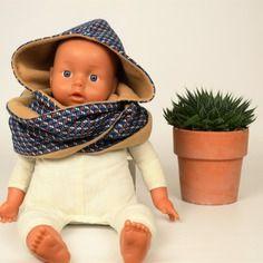 Capucharpe écharpe capuche réversible enfant (2 6 ans) en polaire beige  doublée en 8895e281f141