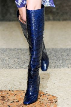 Pucci boots in deep blue croc