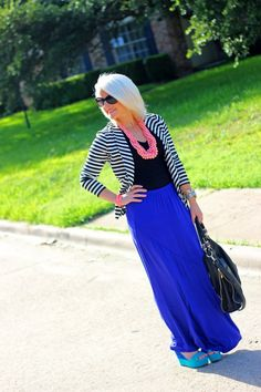 Create That Outfit:  Maxi Skirt and Stripes