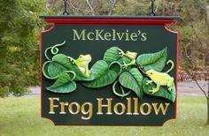 McKelvie's Frog Hollow Animal Sign   Danthonia Designs