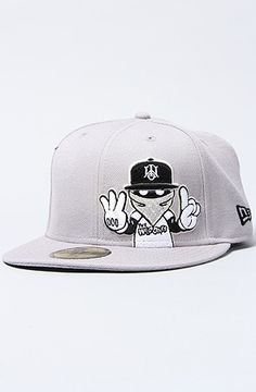 dc2c734de05e0 The Seeing Red New Era Hat in Grey and White. Snapback Hats