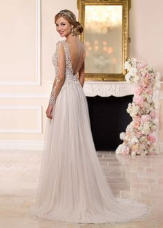 Alluring Tulle Scoop Neckline See-through A-line Wedding Dresses with Lace Appliques