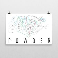 **MADE IN THE USA** Youll love this amazing Powder Mountain Art Print! This Powder Mountain ski map shows all of the trails and lifts at Powder Mountain. This will fit any decor, and also makes a great gift. If you love Powder Mountain, UT, this is for you! This print is our artistic