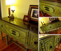 DIY Glazing and Antiquing Furniture Tutorial! {You're WELCOME!} | Sawdust and Embryos