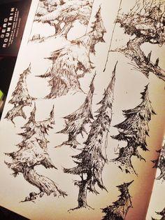 Ian McQue - sketches
