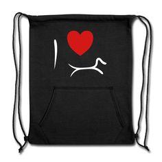 Maria Uusivirta Design | I Love Dachshund - Sweatshirt Cinch Bag. #ilove #ilovedachshund #minimalistdog #dachshund #minimalistdachshund #dachshundlove #dachshundaddict #mariauusivirta #mariauusivirtadesign #doxielove #ilovedoxie #sausagedog Cinch Bag, Dachshund Art, Minimalist Decor, Timeless Design, Simple Designs, Fabric Weights, My Love, Sweatshirts, Prints