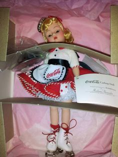"""1999 Madame Alexander Cisette Coca-Cola 10"""" Car Hop doll - NRFB - Mint Condition -- Great cross-collectible for Madame Alexander and Coca-Cola memorabilia collectors. - Will repost on eBay in the future"""