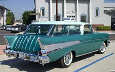 1957 Chevrolet Nomad Station Wagon #1957 #Chevrolet #Nomad #stationwagon #cars #vehicles