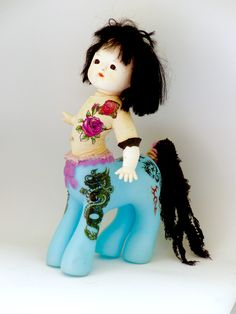 My little centaur  this is Yutu from my world of handmade hybrid creatures on etsy AnimacheAnthroPop / Merryl Key