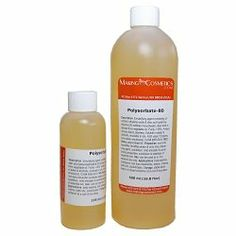Polysorbate 80 - 16.8floz / 500ml by MakingCosmetics Inc.. $15.30. Note: Item is Non-Returnable, Consists of Raw Materials; Conditioning Oil-in-Water Emulsifier. Description: Emulsifying agent consisting of sorbitol, ethylene oxide and oleic acid (polyoxyethylene-20 sorbitan monooleate), oleic acid is derived from vegetable oil. Purity > 95%. Amber, viscous liquid, odorless. Soluble in water and alcohols, insoluble in oils. HLB value 15 (gives oil-in-water emulsion...